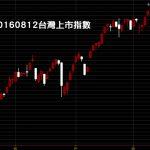 20160812台灣股市上市指數日K線圖股價技術分析教學
