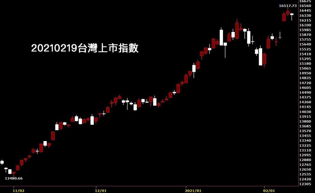 20210219台灣上市指數日K線圖股票入門鵝爸分析教學