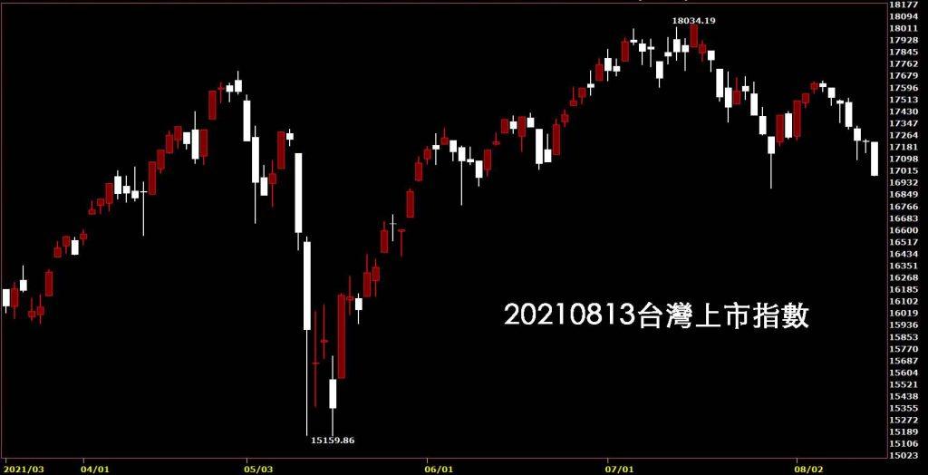 20210813台灣上市指數日K線圖股票入門鵝爸技術分析教學